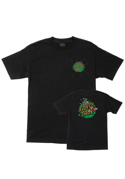 Santa-Cruz T-Shirts TMNT Bebop and Rocksteady black vorderansicht 0399650