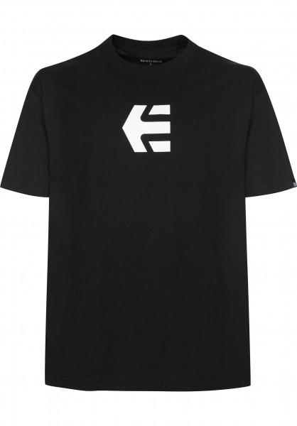 etnies T-Shirts Icon Mid black Vorderansicht