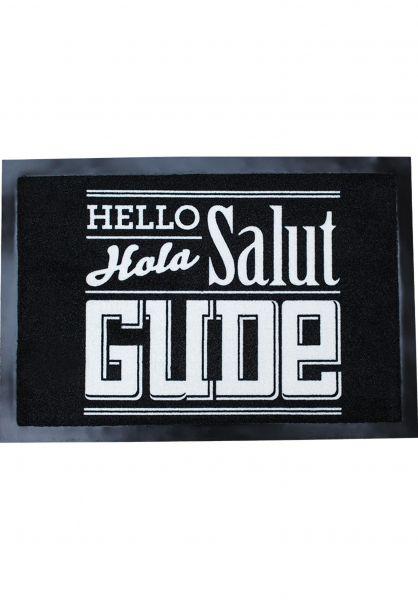 GUDE Verschiedenes Hello Hola Salut Gude black-white Vorderansicht