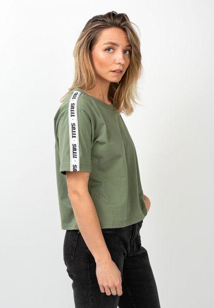 TITUS T-Shirts Riley olive vorderansicht 0801460