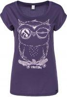 iriedaily T-Shirts Skateowl 2 darkpurple Vorderansicht