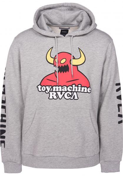 RVCA Hoodies Toy Machine X RVCA athleticheather Vorderansicht