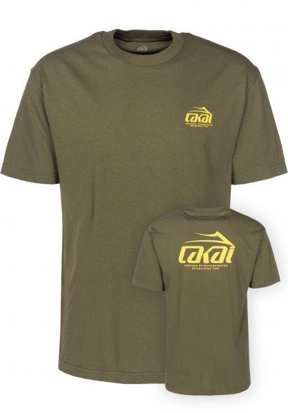 Lakai T-Shirts Inspired militarygreen Vorderansicht