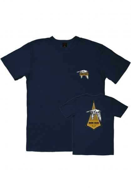 Dark Seas T-Shirts Skimmer Old Time darknavy vorderansicht 0320878