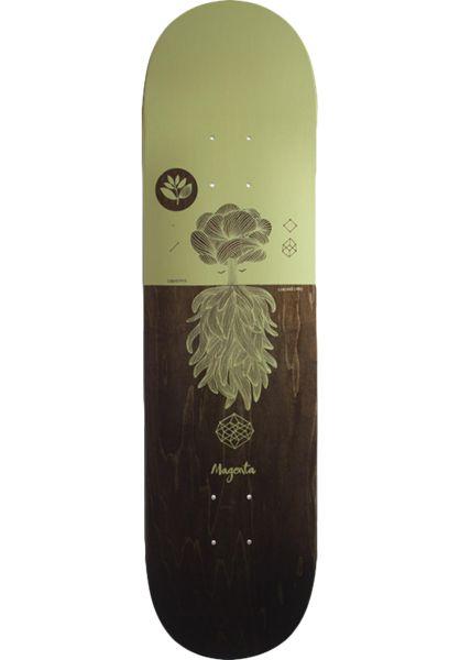 Magenta Skateboard Decks Tree brown-yellow vorderansicht 0262401