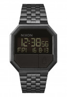 Nixon-Uhren-The-Re-Run-allblack-Vorderansicht