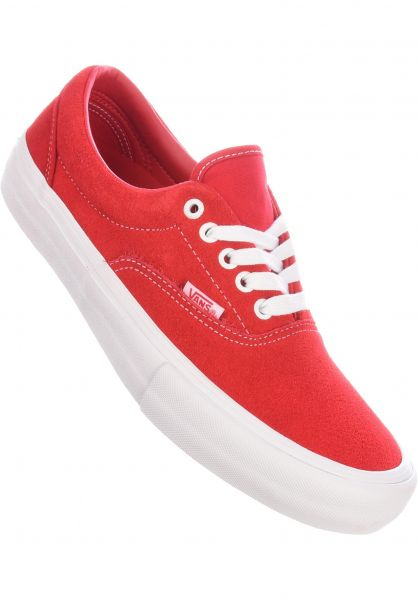Era Pro Vans All Shoes in red-white for