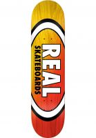 Real Skateboard Decks Angle Dip Oval yellow-red Vorderansicht