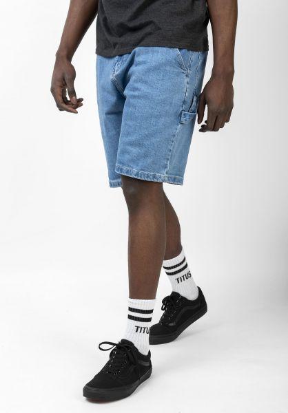 TITUS Jeansshorts Workpant Short blue-bleached vorderansicht 0278010