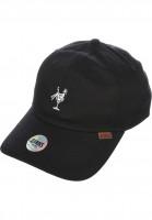 Djinns Caps 6P CV Canvas Dad Hat black Vorderansicht