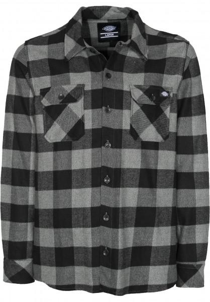 Dickies Hemden langarm Sacramento greymelange Vorderansicht