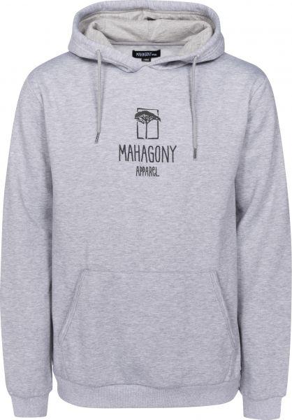 Mahagony Hoodies C.I grey vorderansicht 0444512