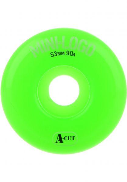 Mini-Logo Rollen A-Cut #2 Hybrid 90A green Vorderansicht