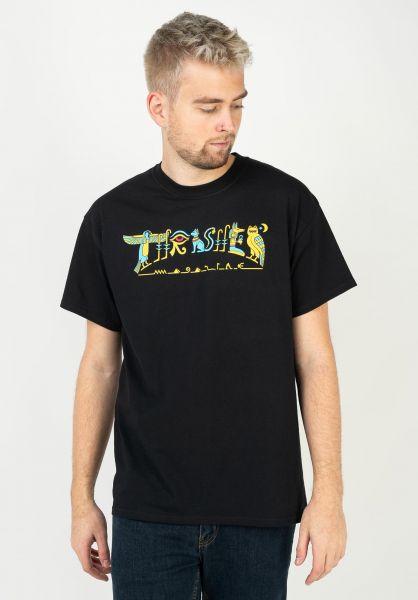 Thrasher T-Shirts Hieroglyphic black vorderansicht 0321611