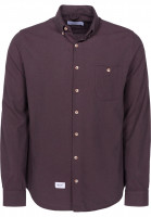 Reell Hemden langarm Brushed Shirt purple Vorderansicht