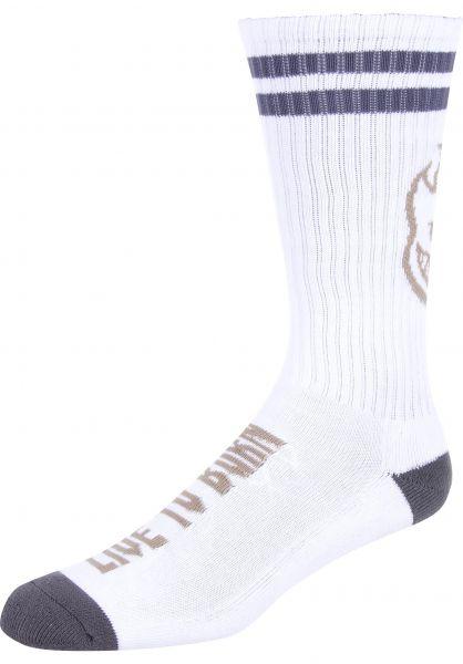 Spitfire Socken Heads up white-grey Vorderansicht