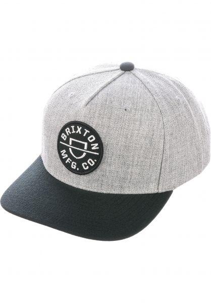 Brixton Caps Crest C heathergrey-black vorderansicht 0566917