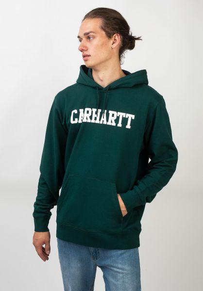 Carhartt WIP Hoodies College darkfir-white vorderansicht 0443540