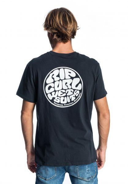 Rip Curl T-Shirts Original Wetty black vorderansicht 0398592