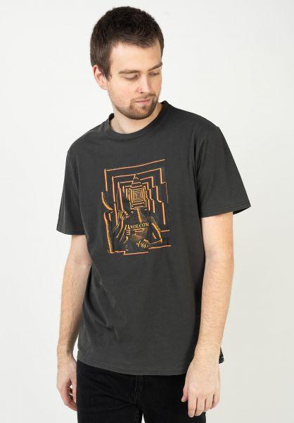 Volcom T-Shirts Stone Reveal black vorderansicht 0323536