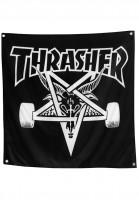 Thrasher-Verschiedenes-Skate-Goat-Banner-black-Vorderansicht