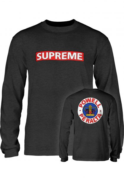 Powell-Peralta Longsleeves Supreme charcoal-heather vorderansicht 0382692