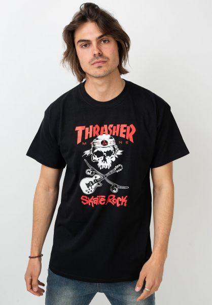 Thrasher T-Shirts Skate Rock black vorderansicht 0362611
