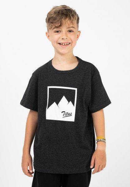 TITUS T-Shirts Mountains Kids darkgreymottled vorderansicht 0321827