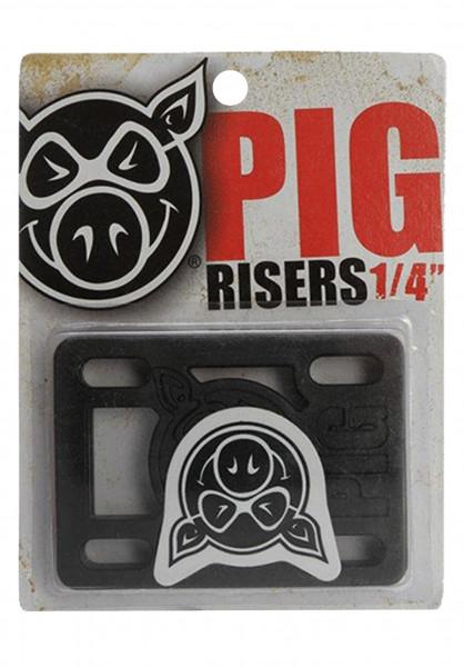 """Pig 1/4""""-Hard-Riser black Vorderansicht"""