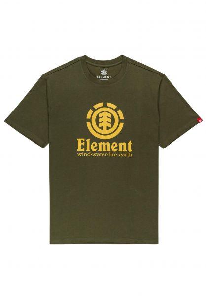 Element T-Shirts Vertical army vorderansicht 0361652