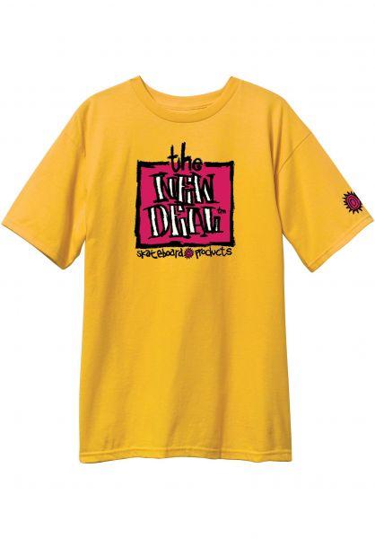 New-Deal T-Shirts Original Napkin Logo gold vorderansicht 0320471