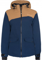 Light-Snowboardjacken-June-navy-bonebrown-Vorderansicht