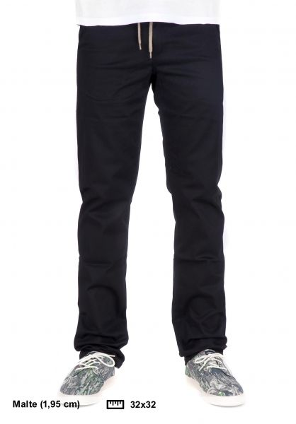 Rebel Rockers Chinos und Stoffhosen 5 Pocket Slim Chino black vorderansicht 0520801