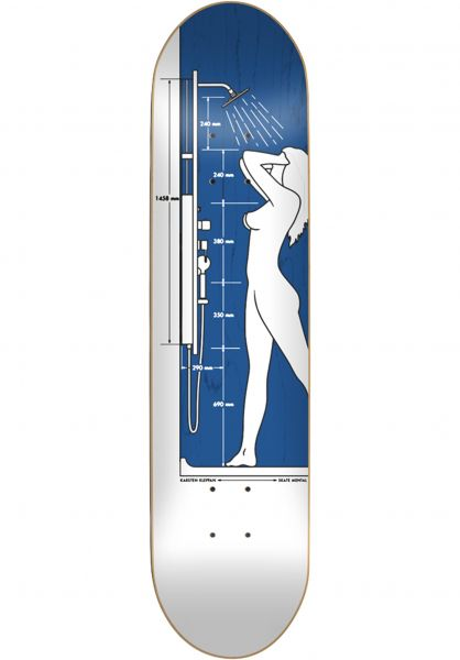 Skate-Mental Skateboard Decks Karsten Shower white-blue Vorderansicht