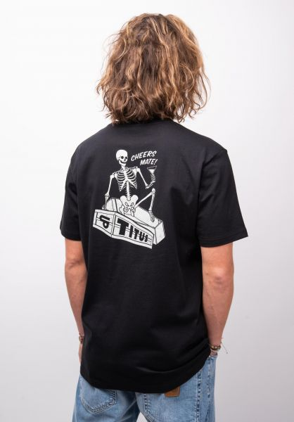 TITUS T-Shirts Cheers Mate-Backprint black closeup2 0398383
