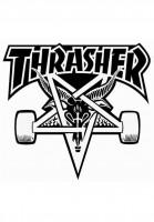 Thrasher Verschiedenes Skategoat Board Sticker white Vorderansicht
