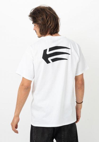 etnies T-Shirts Joslin white vorderansicht 0321219