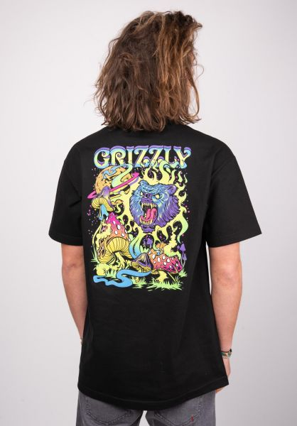 Grizzly T-Shirts Black Light Bear Pocket black vorderansicht 0399977