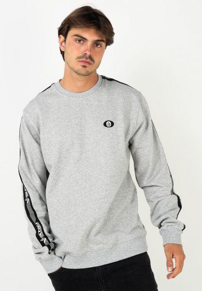 Volcom Sweatshirts und Pullover Rysin Crew heathergrey vorderansicht 0423023