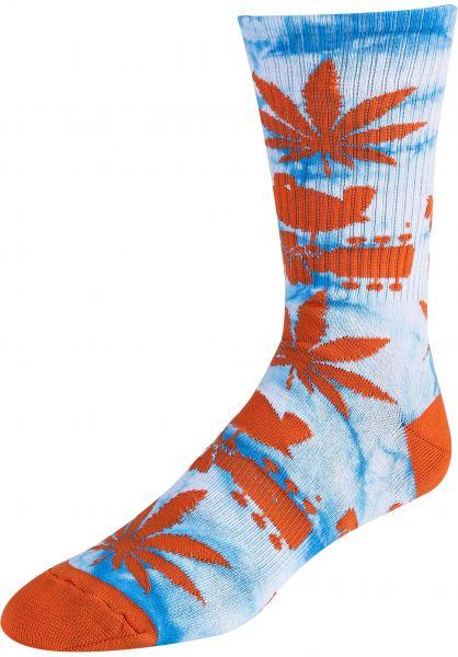 HUF Socken x Woodstock Plantlife blue vorderansicht 0631863