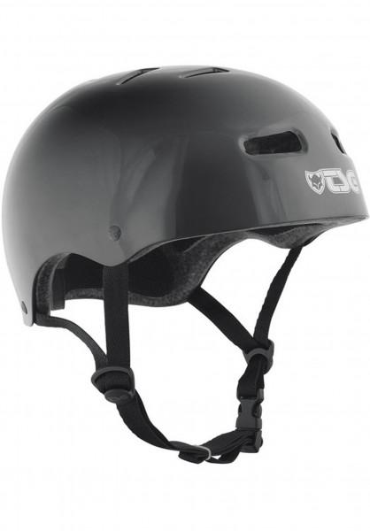 TSG Helme Skate/BMX Solid Colors injected black Vorderansicht