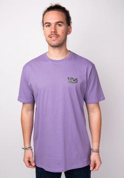 TITUS T-Shirts Triangle Backprint violet vorderansicht 0395994