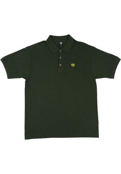 Lurk Hard Polo-Shirts Flag green vorderansicht 0138426