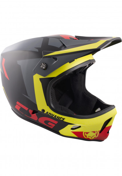 TSG Fullface-Helme Advance Graphic Design buzz-yellow-red Vorderansicht