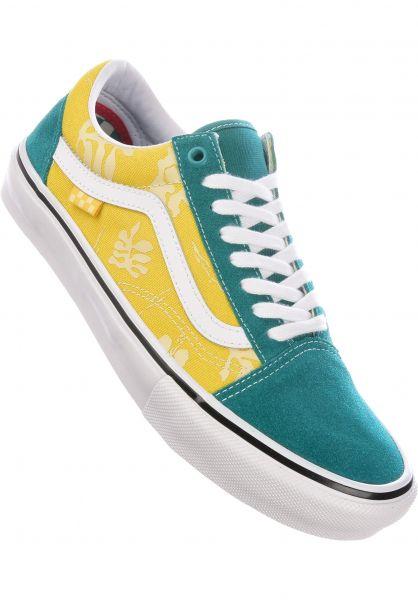 Vans Alle Schuhe Skate Old Skool marine-gold vorderansicht 0604963