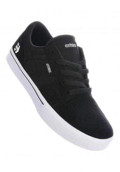 etnies Alle Schuhe Barge LS Kids black-white vorderansicht 0216062