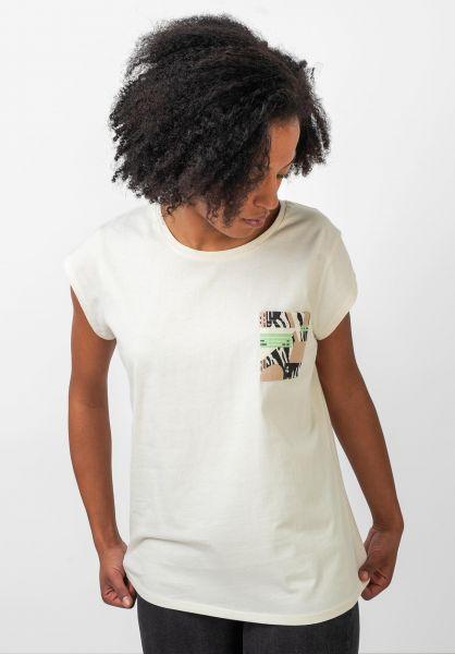 TITUS T-Shirts Grafik Pocket offwhite vorderansicht 0397415