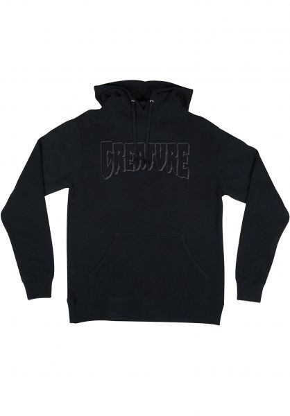 Creature Hoodies Logo Embroidery black vorderansicht 0445673