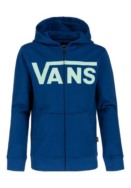 Vans Zip-Hoodies Classic Kids sodalite-dustyjadegreen vorderansicht 0453812