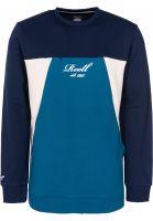 Reell Sweatshirts und Pullover Color Block Crew navy-petrol-cream vorderansicht 0422651